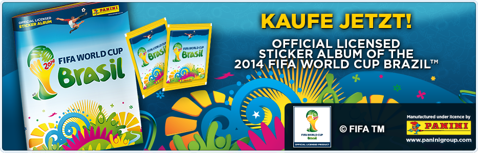Panini-Stickerkollektion WM 2014