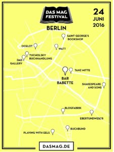 Das Mag Festival Map - Berlin 2016